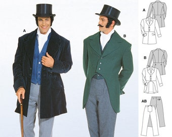 Steampunk Sewing Patterns- Dresses, Coats, Plus Sizes, Men's Patterns Burda Pattern Mens steampunk 2767 $12.99 AT vintagedancer.com