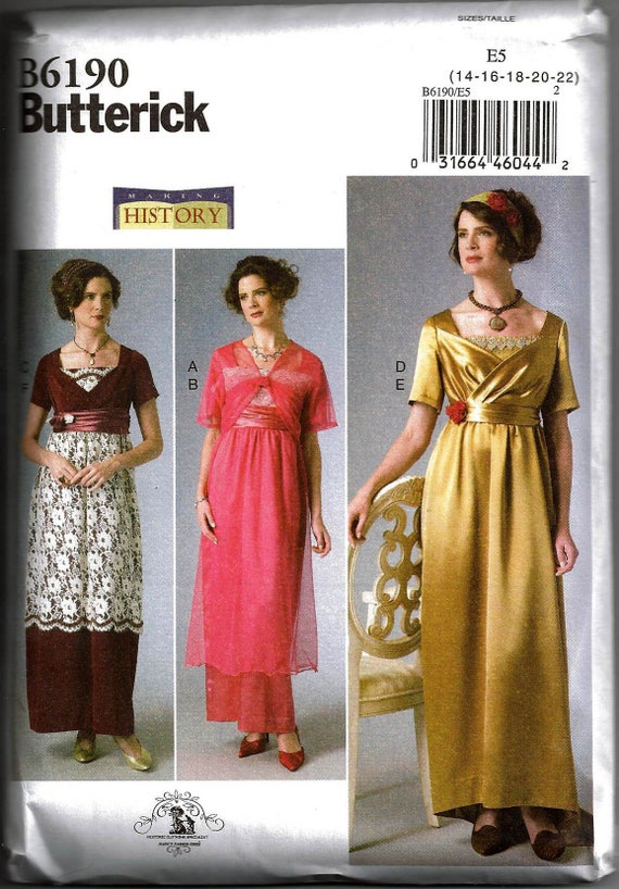 Butterick 4954 Early 20th Century Costume Pattern 8-14