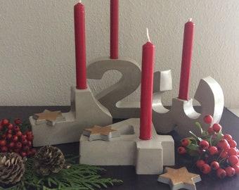 Geburtstagszahlen Kerzenhalter Aus Beton Etsy