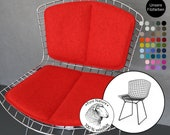 Bertoia Side Chair back and seat pad - Felt seat cushion, 100 wool felt, chair cover, Knoll