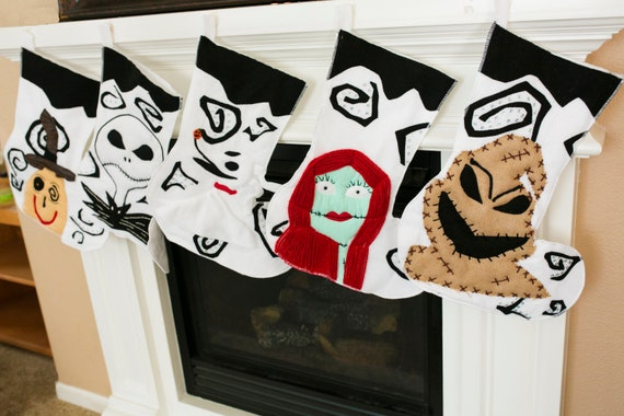 Nightmare Before Christmas Stockings by Etsy