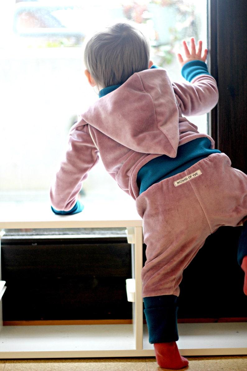 Retro Nicki-Set Pumphose /& Tip-PulloveHoodiealt-srosa leaves petrol