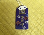 Blessed Omamori for academic success(Blue), Japanese mulets, Japanese Buddhism,  Japanese culture