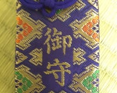 Blessed Original Omamori(Blue-Rhomboid), Japanese, Amulet, Japanese culture, Japanese Buddhism, Omamori, Shinto, Nichiren shu