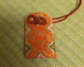 Blessed Original Omamori(Red-Rhomboid), Japanese, Amulet, Japanese culture, Japanese Buddhism, Omamori, Shinto, Nichiren shu