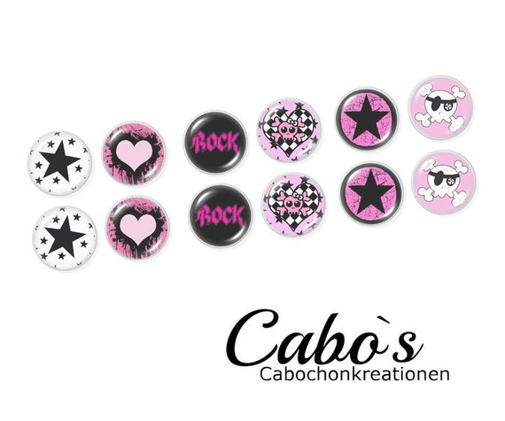 C1655/16 Cabochon Set  12x16mm round