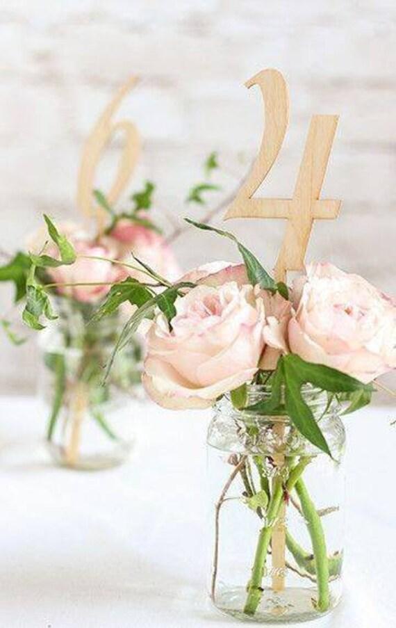 Tischnummer 1-30 Holz natur Hochzeit Tischzahlen hoch | Etsy