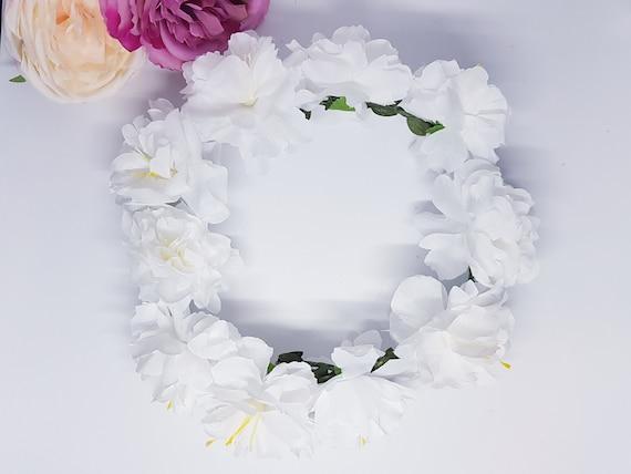 White Flower Wreath Bridal Wedding