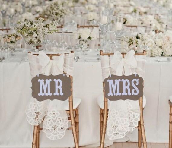 Mr Mrs Schild Vintage Hochzeit Braun Weiss Tischdeko Etsy