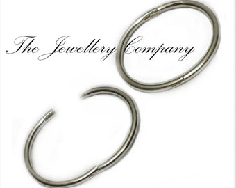1589a1f3b Hinged sleepers 925 Sterling silver plain earrings x 1PAIR 12 14 16mm  jewellery