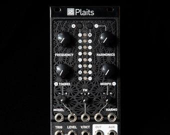 Mutable Instruments Plaits Eurorack Synth Oscillator Clone Module (Black Magpie Textured)