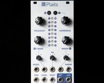 Mutable Instruments Plaits Eurorack Synth Oscillator Clone Module (White Magpie Textured)