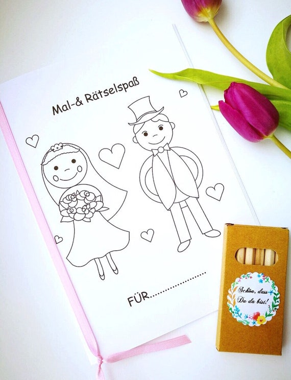 Wedding Coloring Book Crayons Guest Gift Children
