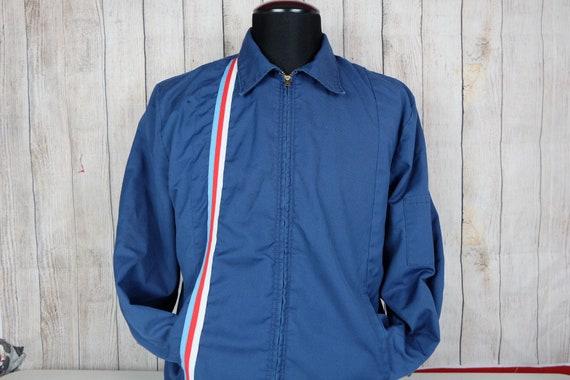 Vintage 1970s Talon Workwear Racing Jacket Size La