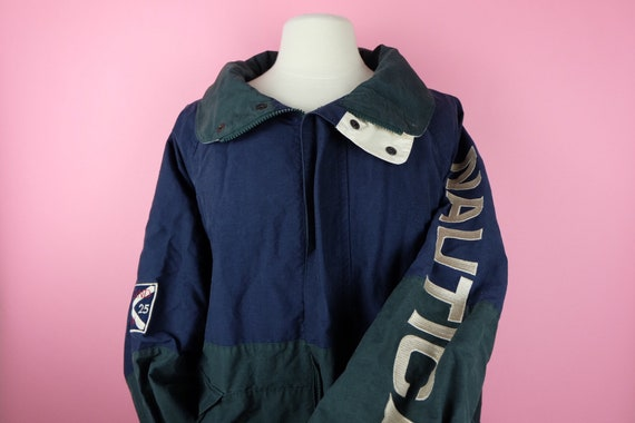 Vintage 1990s Nautica 2 block colour windbreaker j