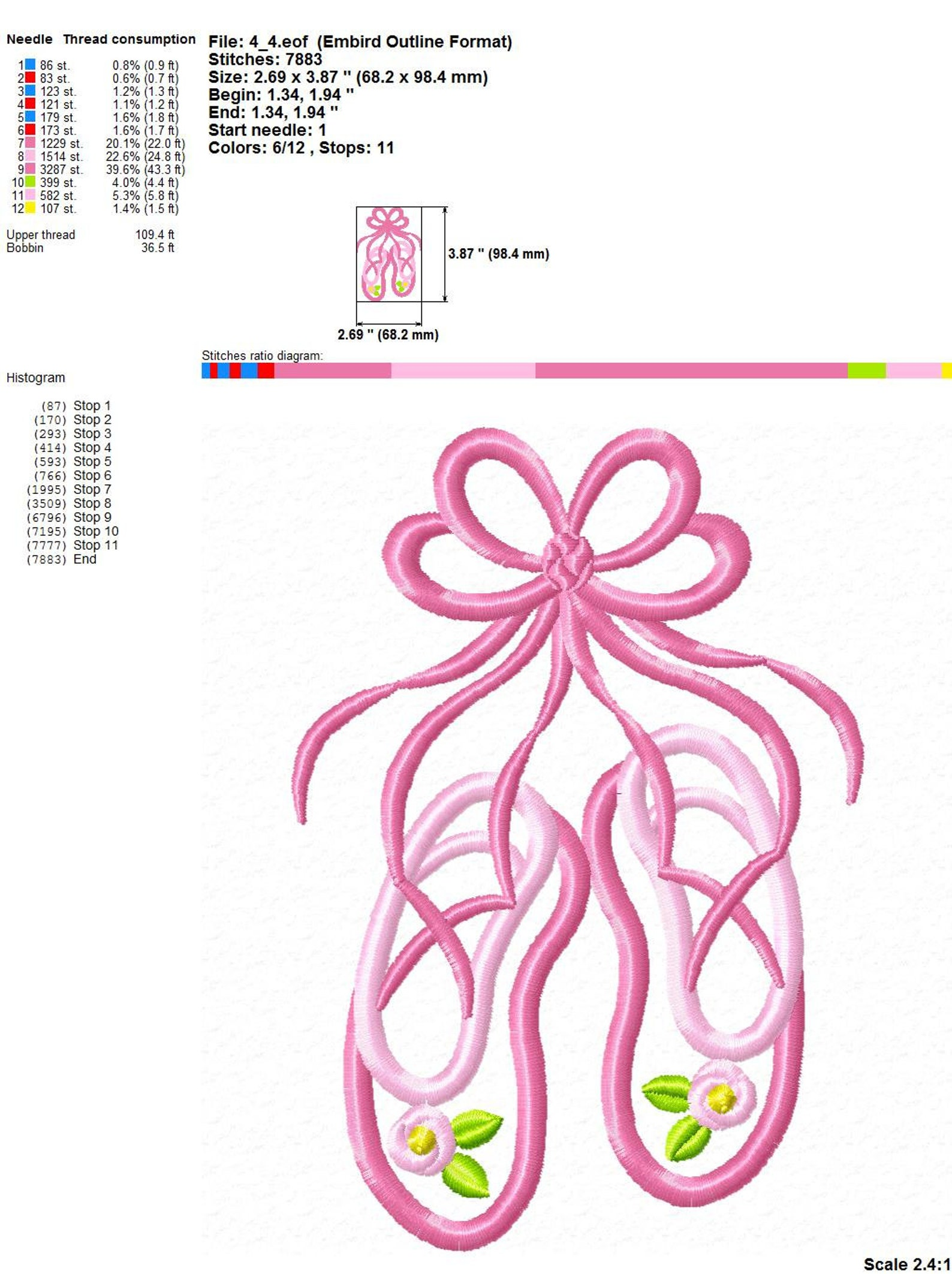 ballet shoes ballerina girl ballet slippers cute pink ballet pink bow dance digital design applique for machine embroidery. 8 si