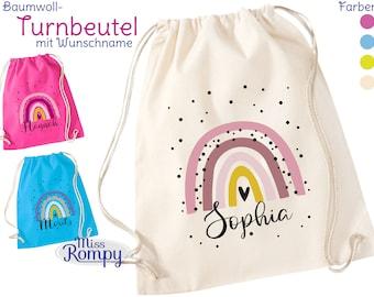 BW-Turnbeutel REGENBOGEN (779) Name Drawstring Bag Sports Bag Backpack Gymsac