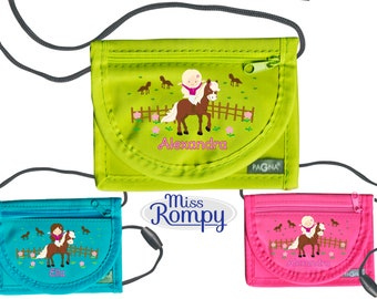 MissRompy | Breast bag rider (848) with name and safety clasp shoulder bag breast bag viewing window