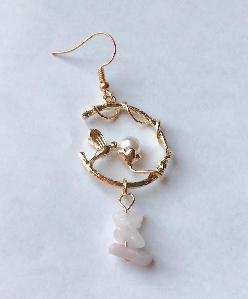 Holiday, Gift Bird pearl Earring