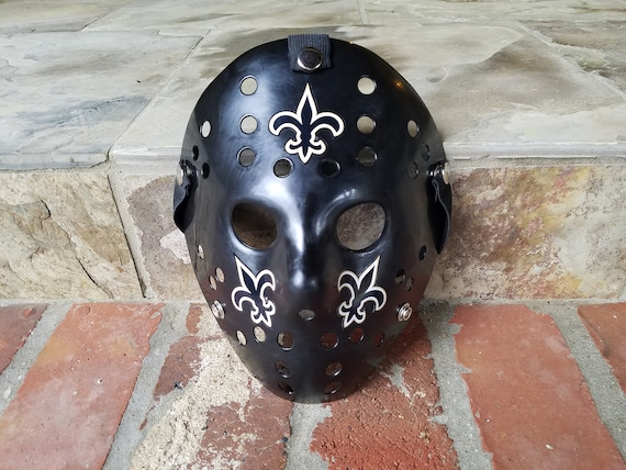 New Orleans Saints Hockey Mask Who Dat Halloween Jason Black And Gold