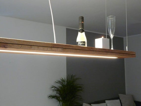 Lamp Wood Oak 160 Cm Upper Under Light Etsy