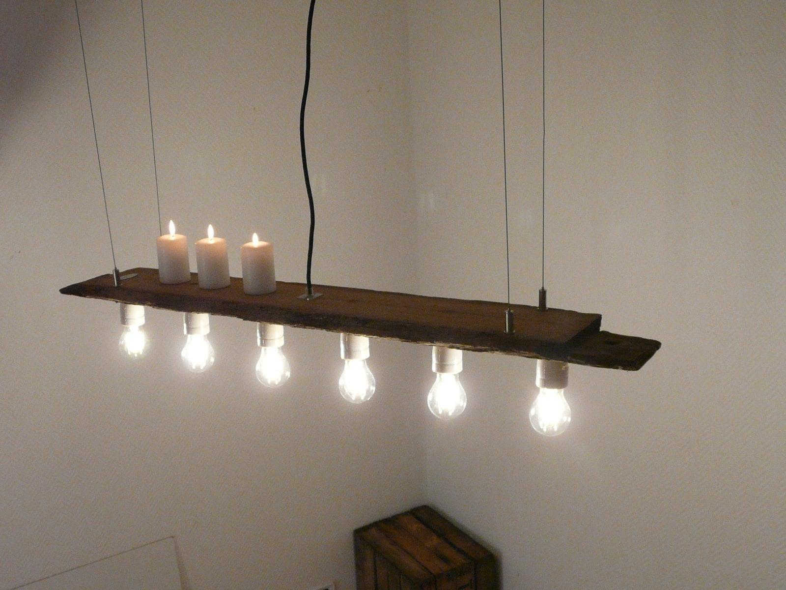 h ngelampe antikbalken leuchte balkenlampe etsy. Black Bedroom Furniture Sets. Home Design Ideas