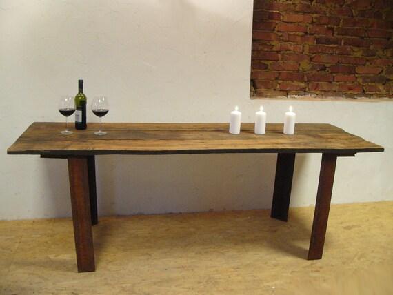 Tavolo da pranzo XXL in rovere plancia di legno antica