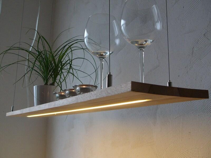 h ngelampe buche regal led leuchte zuleitung seitlich etsy. Black Bedroom Furniture Sets. Home Design Ideas
