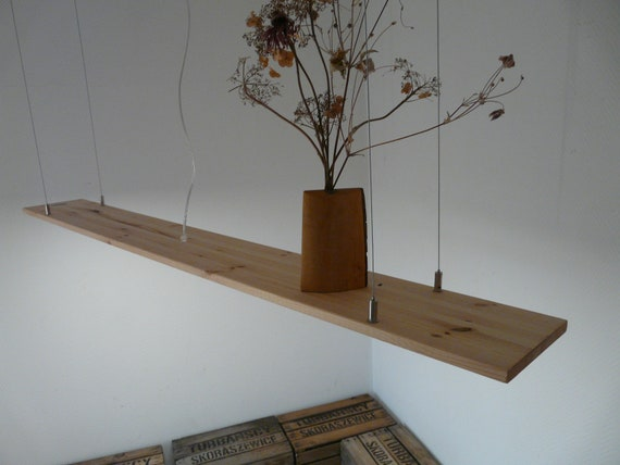 Pendant Lamp Light Pine Shelf 160 Cm Led Dimmer Etsy