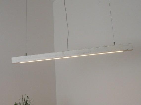 shabby lámpara chic blanco LEDs 80 cm lámpara vintage comedor lámpara de  madera
