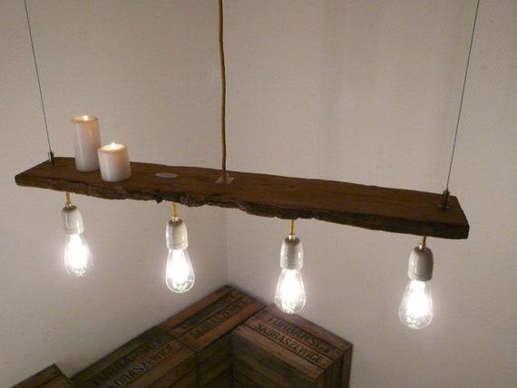 h ngelampe antik balken leuchte filment etsy. Black Bedroom Furniture Sets. Home Design Ideas