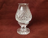 Waterford Alana Cut Crystal Hurricane Votive Lamp and Globe