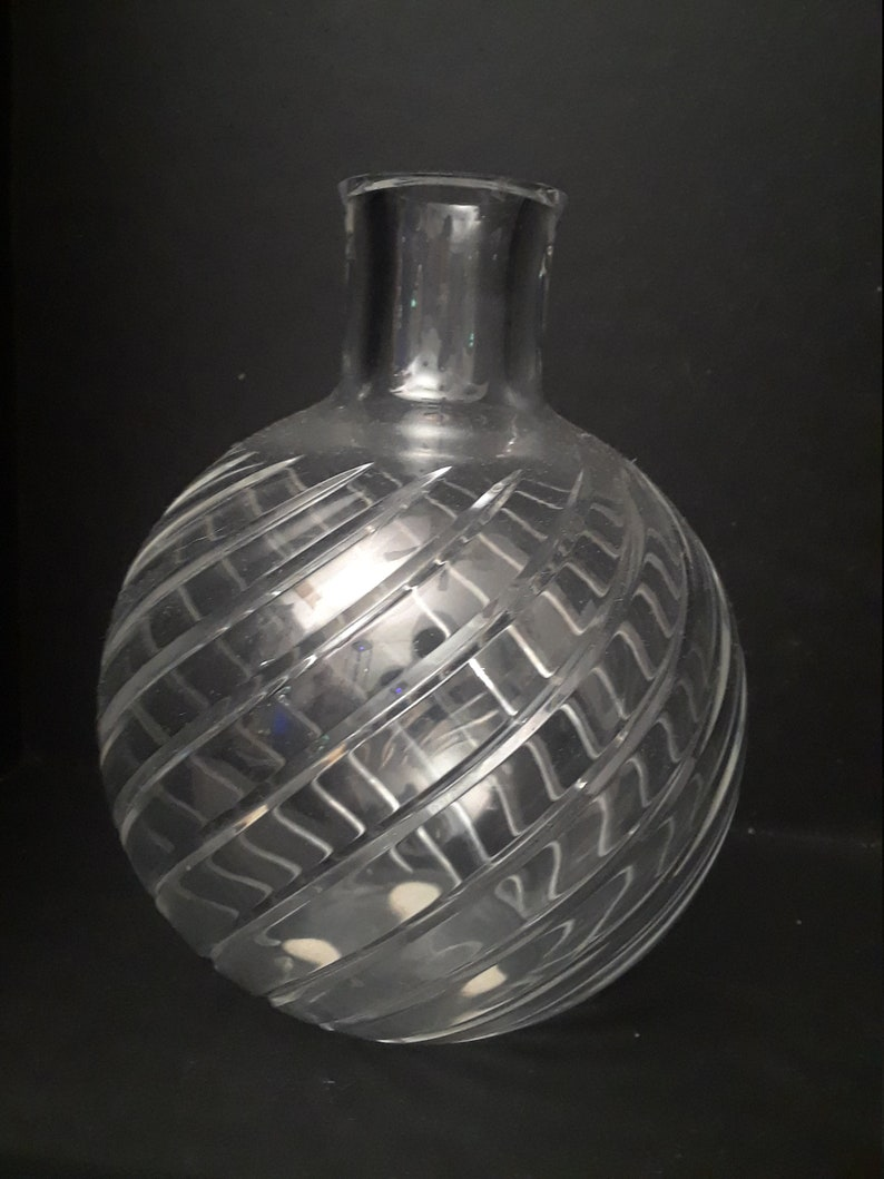 Baccarat Cyclades Swirl Cut Crystal Bud Vase Etsy