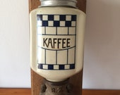 Wall coffee mill coffee grinder wall coffee antique blue white Zassenhaus