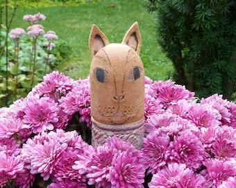 Garden Ceramics/ Garden Figures/ Ceramic Cats /Souvenirs for Cat Lovers/GARDEN GUARDIAN CAT 2