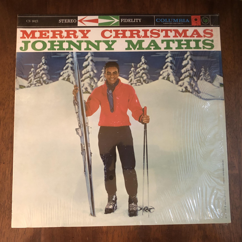 Vintage Merry Christmas Johnny Mathis 33 Vinyl Record Album Lp
