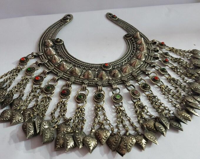 Antique Unique Handmade Afghan Tribal-Boho Tribel Banjara Vintage Necklace