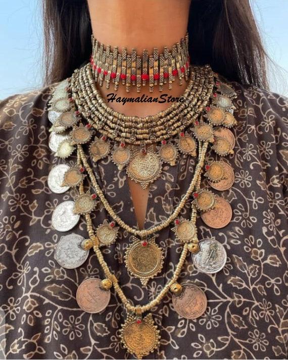 Details about  /Antique Unique Handmade Afghan Tribal-Boho Waziri Banjara Vintage Necklace