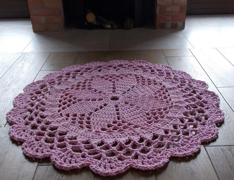 Sehr Teppich Hasel 100 cm Teppich häkeln runden | Etsy JU18