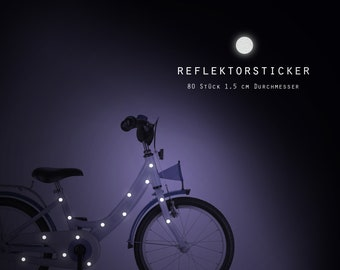 """Reflector bicycle tattoos """"Dots dots"""" 80 pieces reflective stickers, bike, waterproof"""
