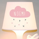 "Children's lamp, Table Lamp ""small clouds"" cloud, hearts, clouds, with name, snooze lamp"
