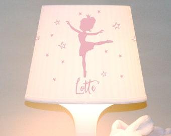 "Children's lamp slumber lamp ""Ballerina with name"" princess, customizable table lamp"
