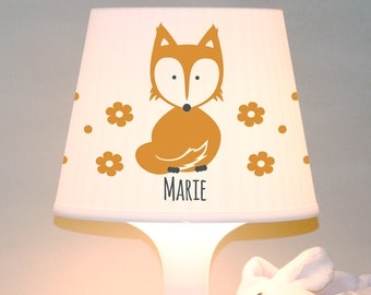 """Children's lamp snooze lamp """"Fox with name"""" table lamp customizable"""