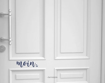 """Door sign """"Moin"""" selectable with anchor, heart or dot, self-adhesive"""