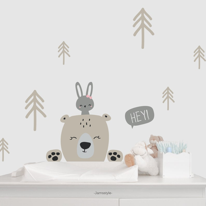 Wall decal wall sticker  Forest Animals Bear & image 0
