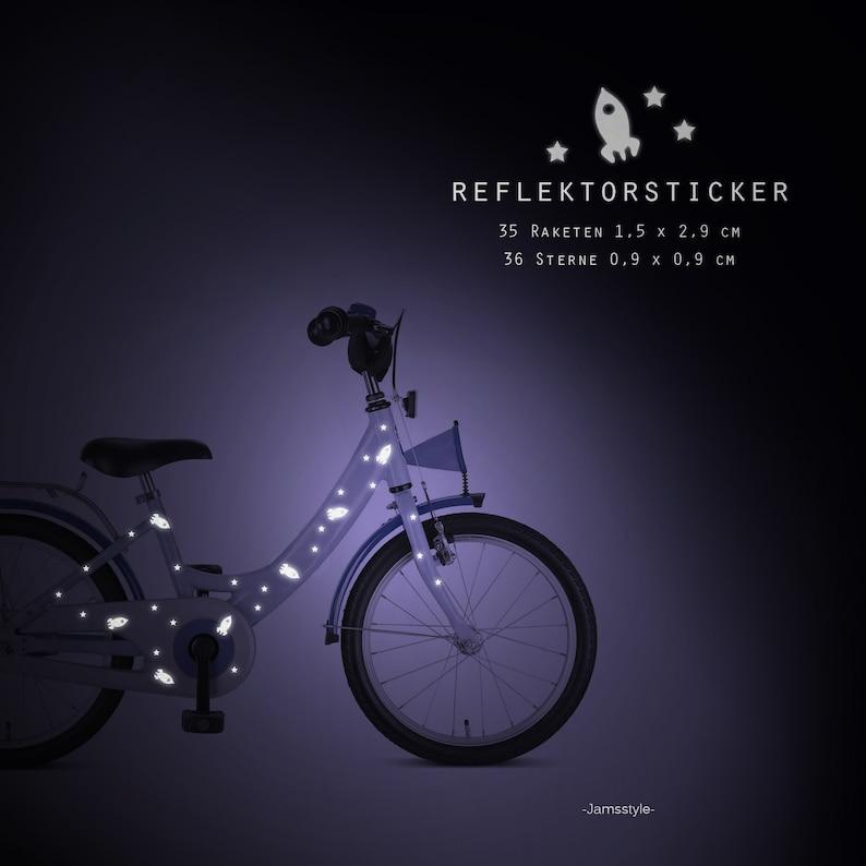 Reflector bicycle tattoos rocket & stars rockets image 0
