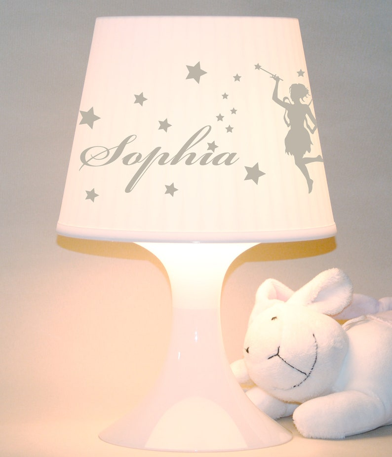 Baby lamp Fairy with name Table lamp image 0