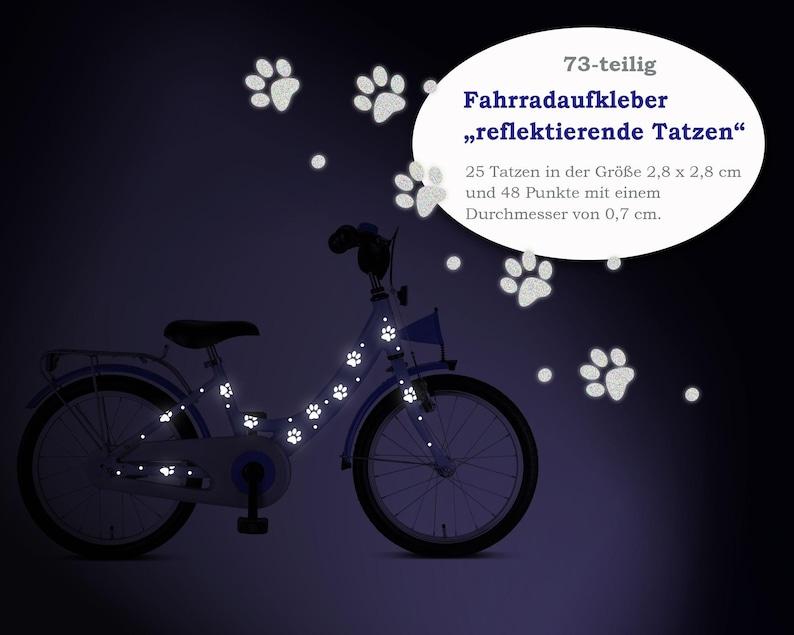 Reflector bicycle tattoo Tatzen  73-piece image 0