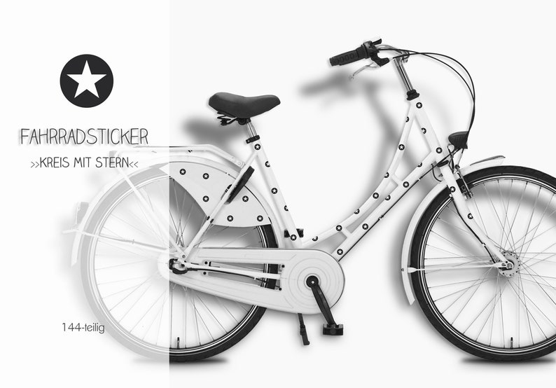 Bicycle stickers sticker circle with star image 0