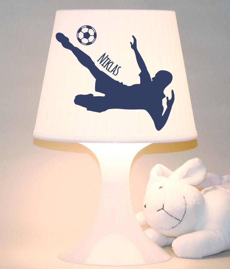 Children's lamp table lamp Footballer with image 0